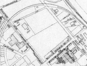Omawiana okolica na planie Gdańska z 1940 roku (zbiory Mikołaja Wierzbickiego)