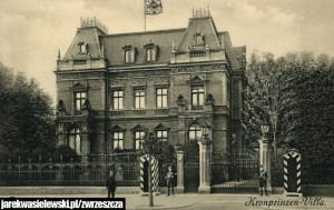 Villa Dippe przy Haupstrasse 98 na pocztówce z ok. 1912 roku (zbiory Krzysztofa Gryndera)