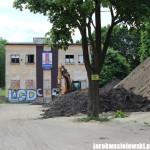 Nielegalna żwirownia na zabytkowym terenie KS Gedania