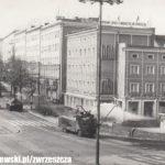 Al. Grunwaldzka na zdjęciu z walk ulicznych w stanie wojennym